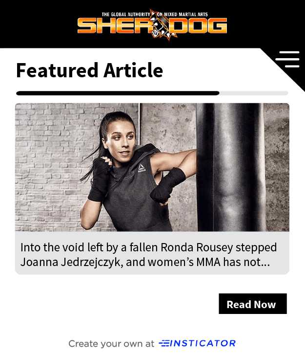 Insticator story on Sherdog